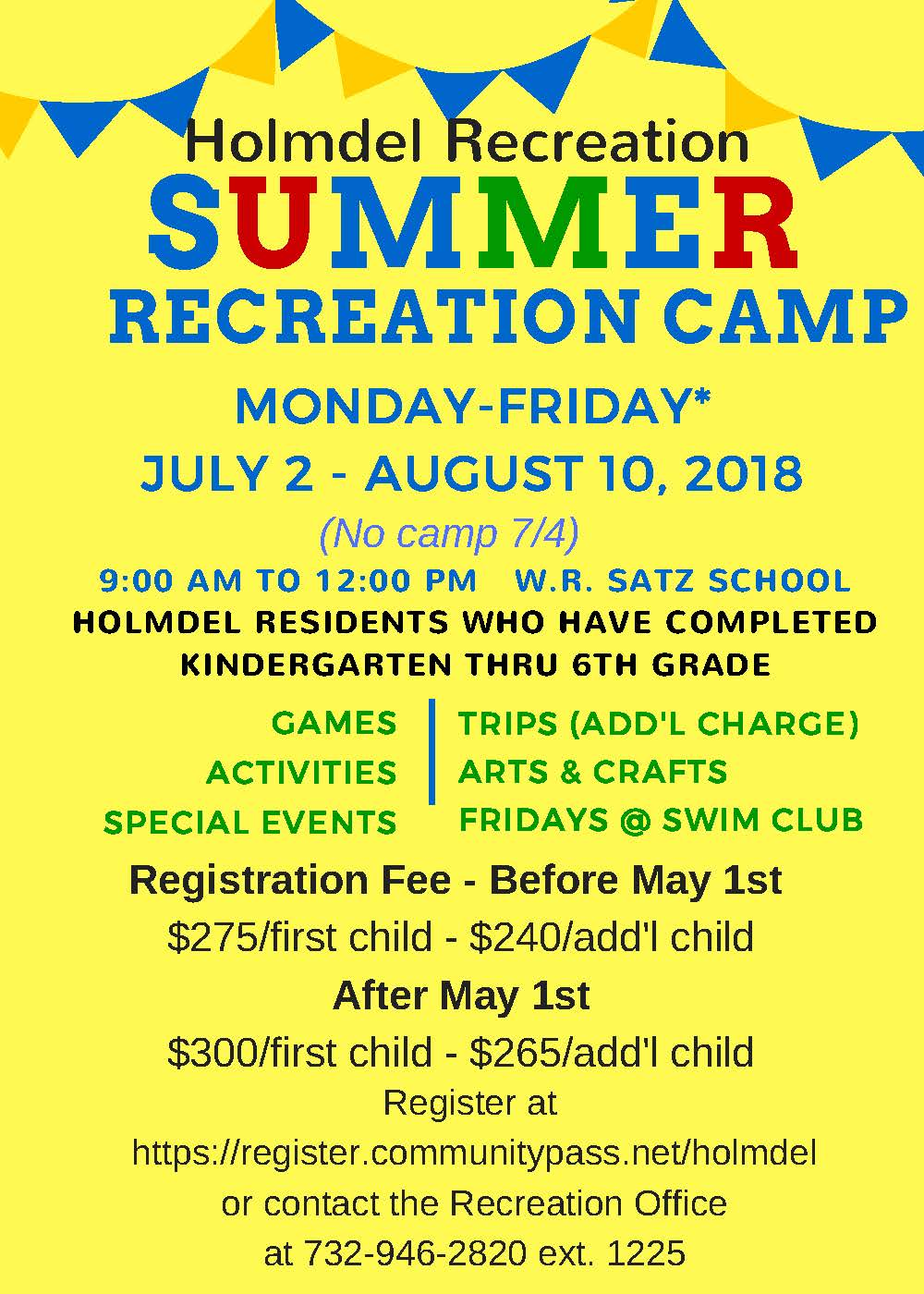 Summer Recreation Camp 2018