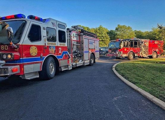 This is a photo of Holmdel Fire Department trucks and apparatus.