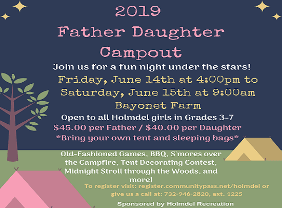 Father-Daughter Campout Flyer