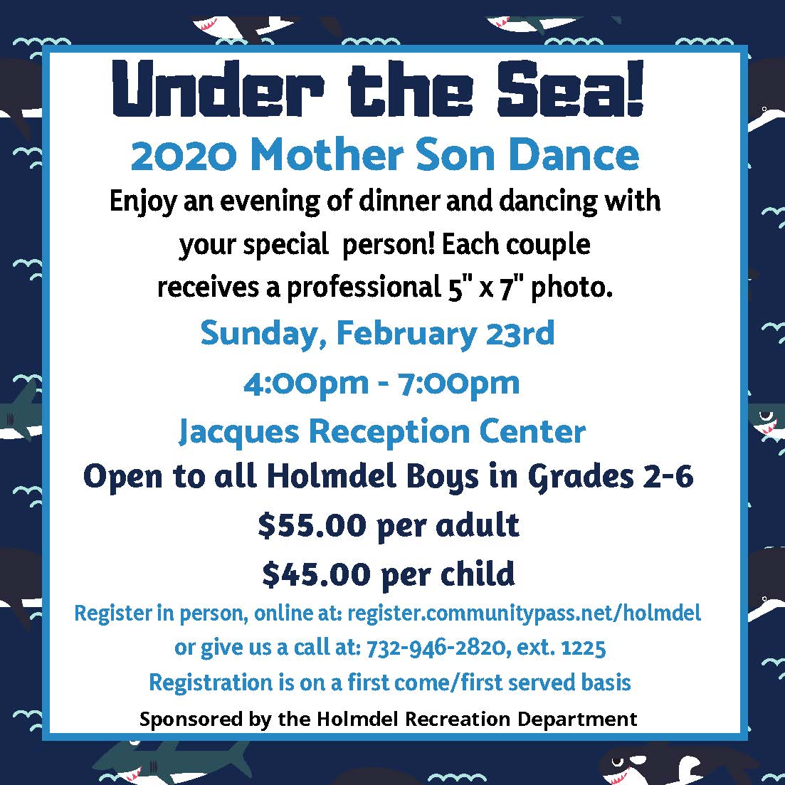2020 Holmdel Recreation Mother Son Dance
