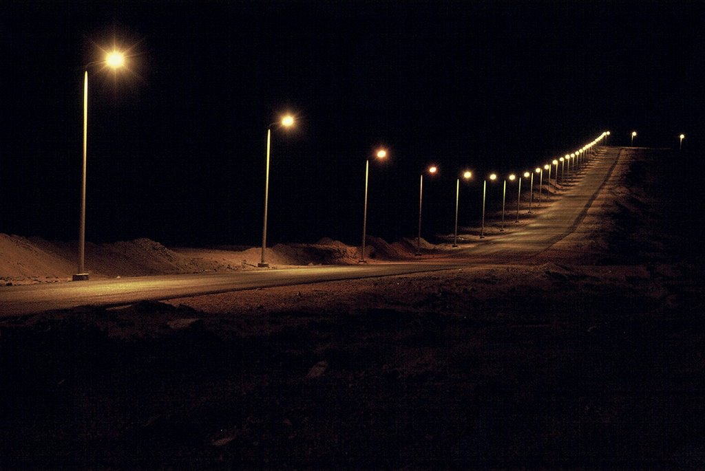 Street Lights on at Night