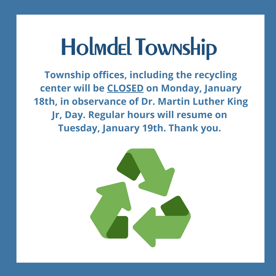 Recycling Closure MLK Jan 18