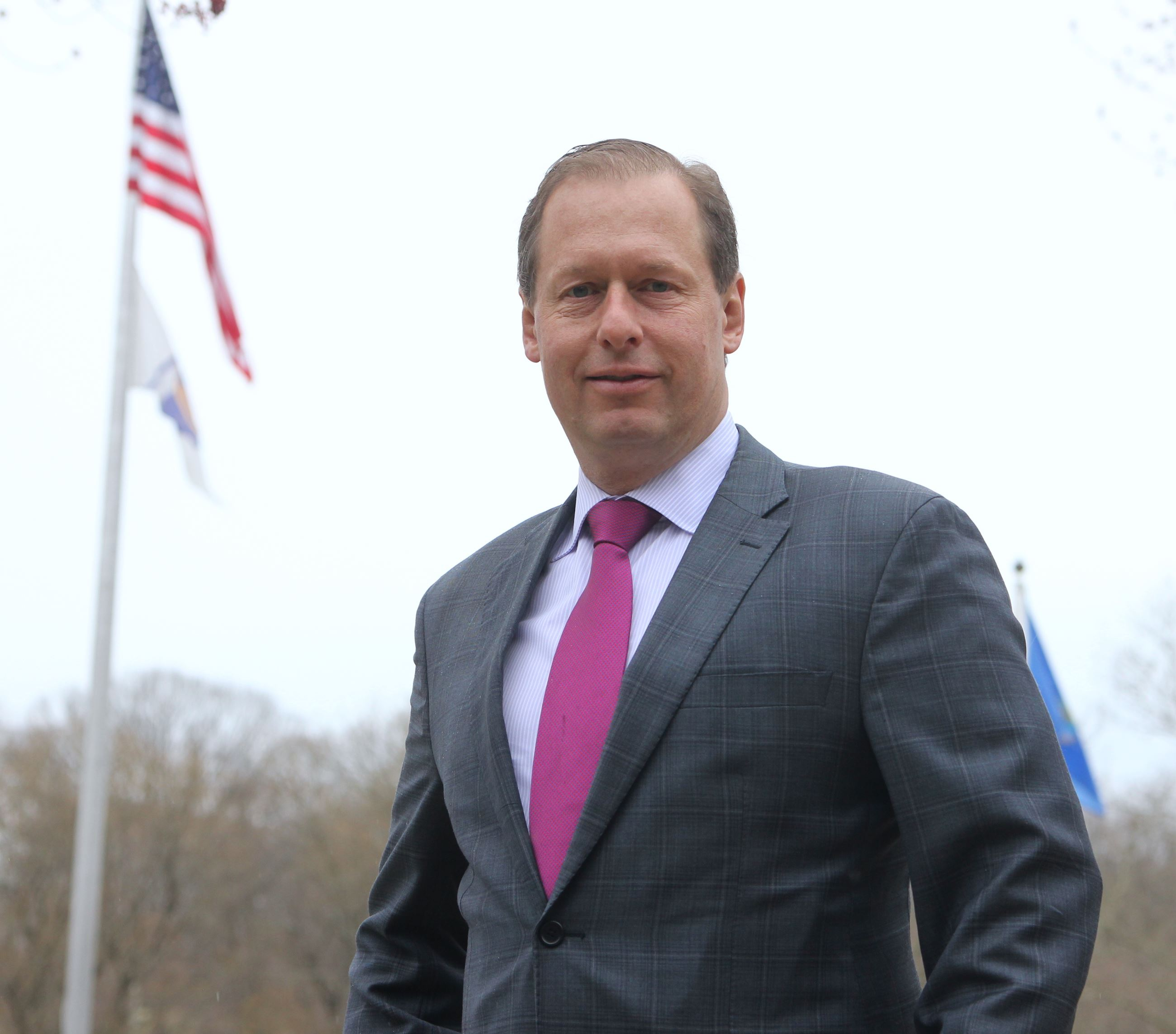 This is a photo of Mayor Eric Hinds, who was elected by the Township Committee to serve as the Mayor